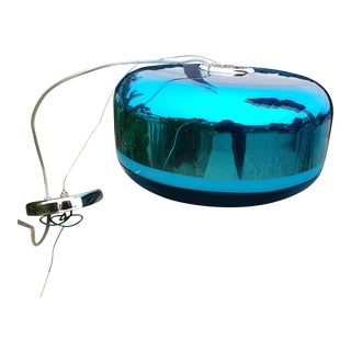 Oggetti Luce Aqua Chrome Magica Drum Pendant For Sale