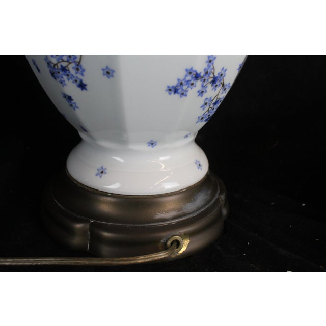 Vintage Chinese Floral Lamp For Sale In New York - Image 6 of 11