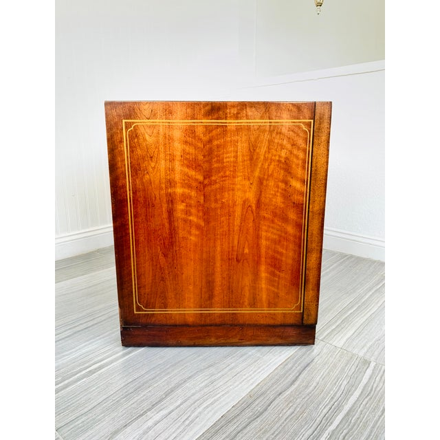Metal Chinoiserie Drexel Rosewood Chest of 2 Drawers For Sale - Image 7 of 13
