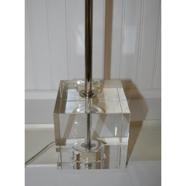 Mid-Century Modern Crystal Base Task Lamp For Sale - Image 3 of 5