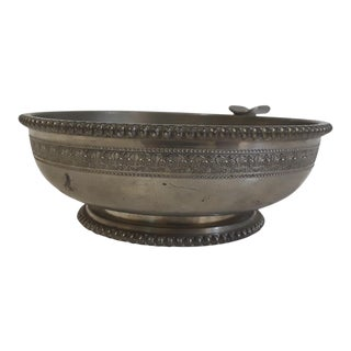 Lily Motif Pewter Ashtray For Sale