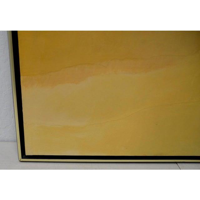 "Alexander Nepote ""Summit Bluff"" Monumental Modernist Landscape C.1970 For Sale - Image 4 of 12"