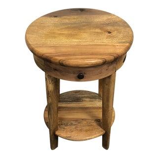 Reclaimed Wood Soldarity Side Table