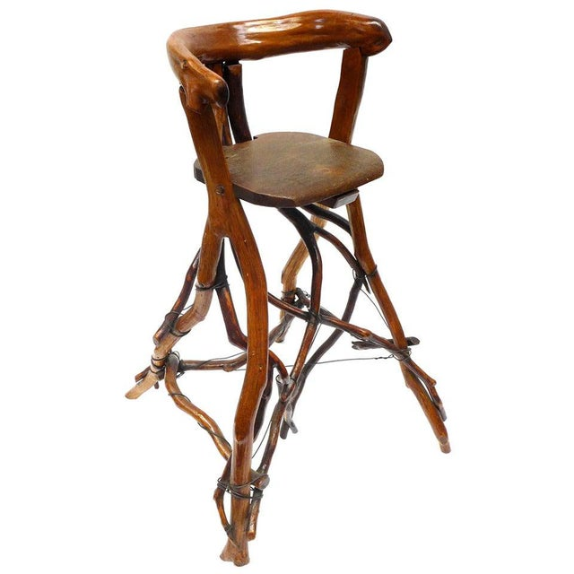 Primitive Twig High Chair For Sale - Image 9 of 9