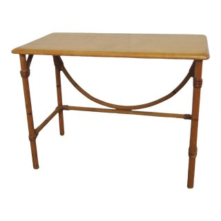 Heywood Wakefield Bamboo Rectangular Side Table For Sale