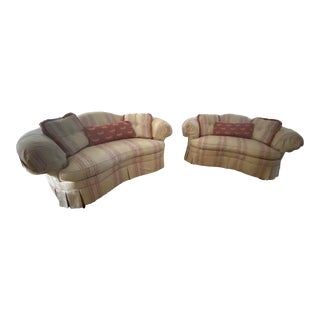 Hickory Chair Norfolk Love Seats - a Pair For Sale