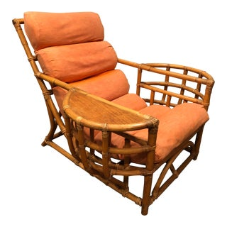 Paul Frankl Bamboo Lounge Chair For Sale
