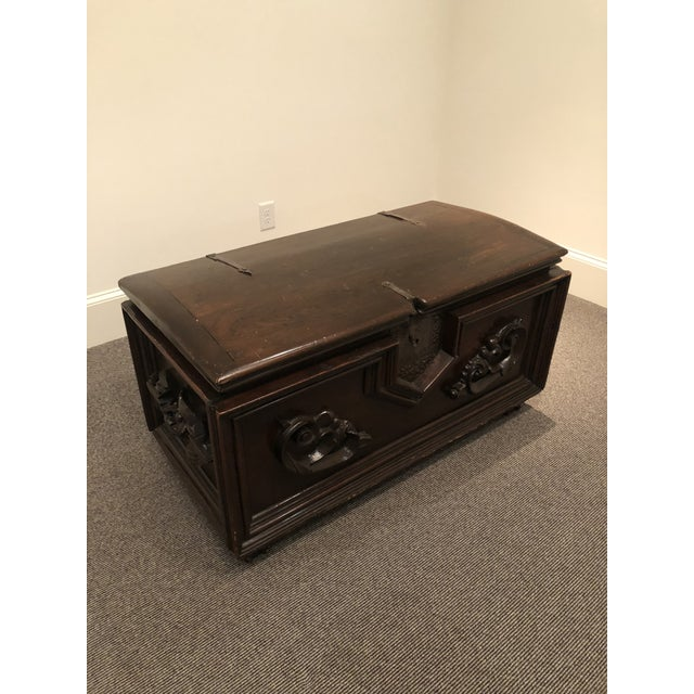 Antique Italian Mahogany Chest For Sale - Image 13 of 13
