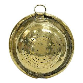 18th Century French Brass Fine Colander, C. 1780 For Sale