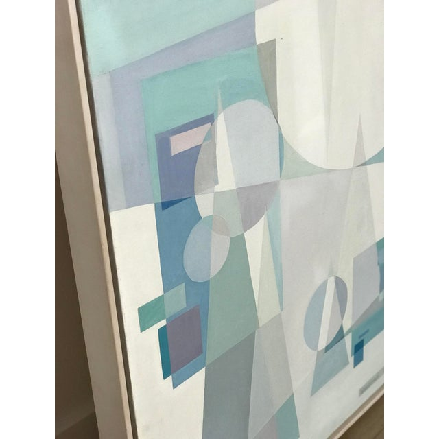 Original Mid Century German Cubist Painting, Signed by Artist 1971 For Sale - Image 12 of 13