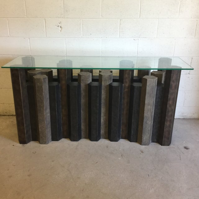 Brutalist Style Console Table For Sale - Image 9 of 12