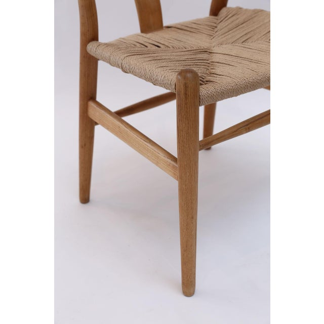 Wood Wishbone Armchairs by Hans Wegner For Sale - Image 7 of 13