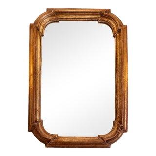 Italian Hollywood Regency Florentine Giltwood Mirror For Sale