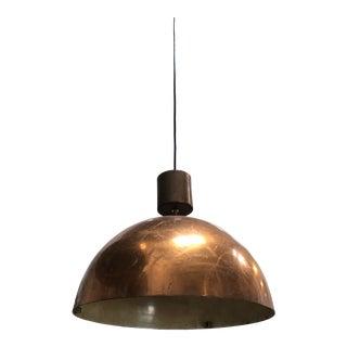 Vintage Mid 20th Century European Copper Pendant For Sale