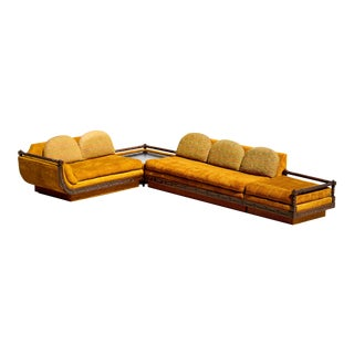 1968 Vintage International Furniture Pearsall Style Sofa Spanish Sectional - 4 Pieces For Sale