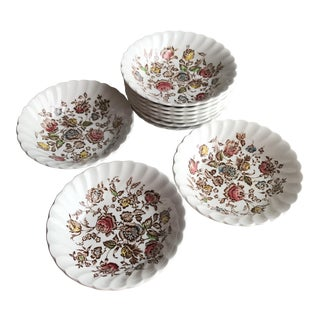 Staffordshire Small Vintage Berry Sauce Dessert Bowls - Set of 10