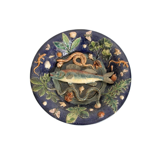 Large Palissy Charger by Victor Barbizet, Circa 1875 For Sale - Image 11 of 11