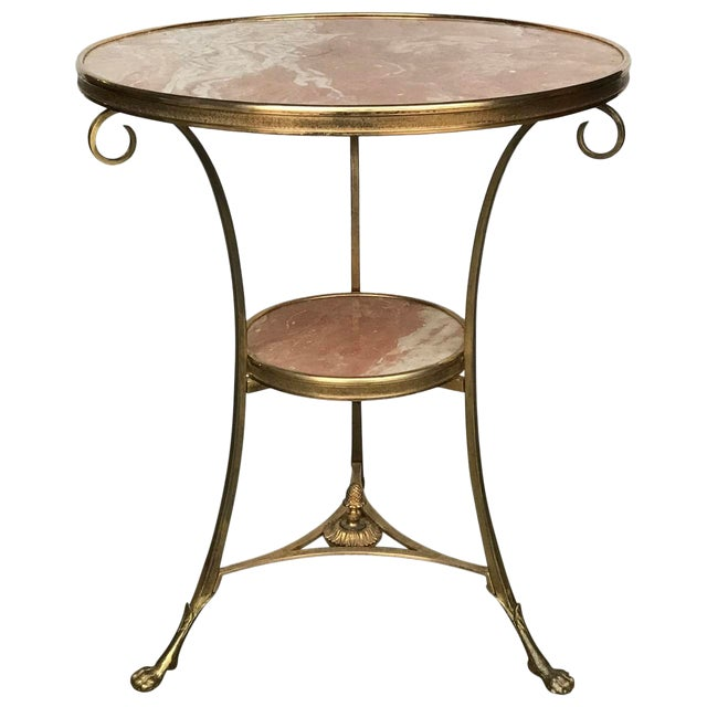 20th Century French Marble and Ormolu Neoclassical Gueridon For Sale