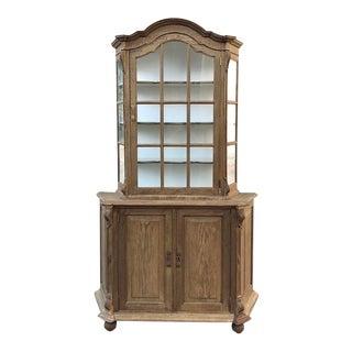 Antique Dutch Stripped Oak Bookcase For Sale