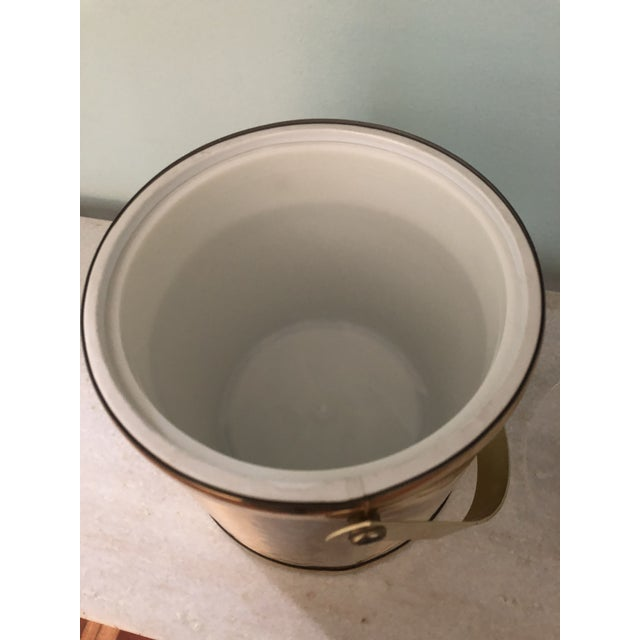 Towle Vintage Gold Metal Insulated Ice Bucket For Sale In Charleston - Image 6 of 8
