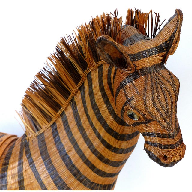 Chinese Woven Reed Zebra Trinket Box For Sale In Miami - Image 6 of 13