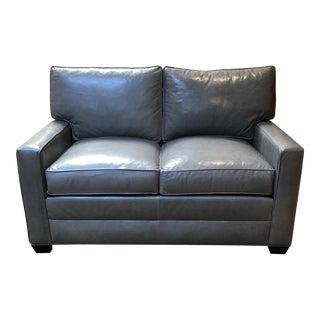 New Bennett Leather Loveseat From Ethan Allen For Sale
