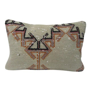 Turkish Antique Kilim Rug Decorative Pillow Cover - 24ʺW × 16ʺH For Sale