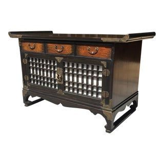 Vintage Korean Apothecary Cabinet For Sale