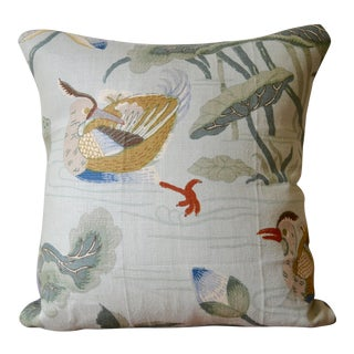 Schumacher Lotus Garden Pillow For Sale