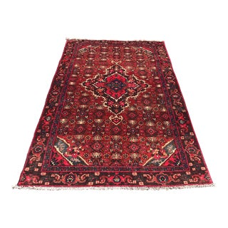 Old Red Persian Rug - 3′11″ × 6′8″ For Sale