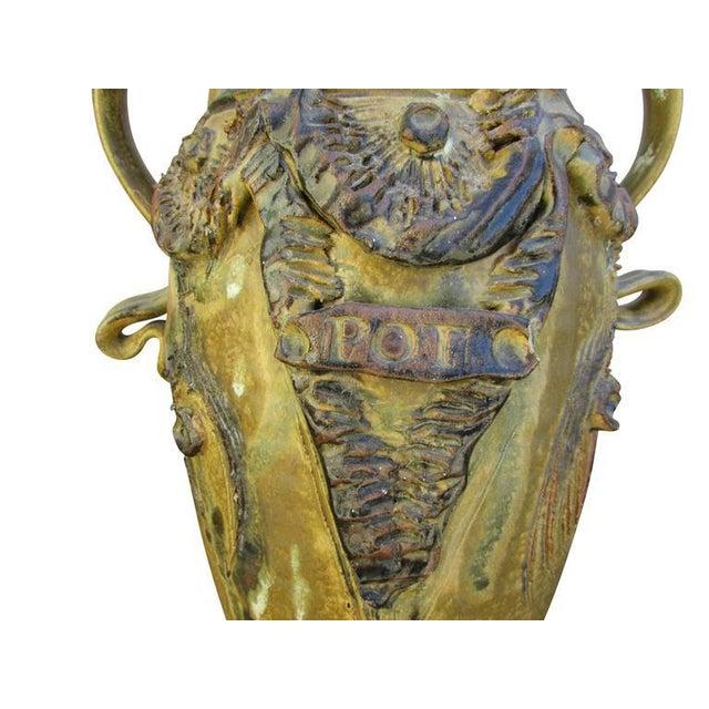 "Mid-Century Ceramic ""Pot"" Vase For Sale - Image 4 of 9"