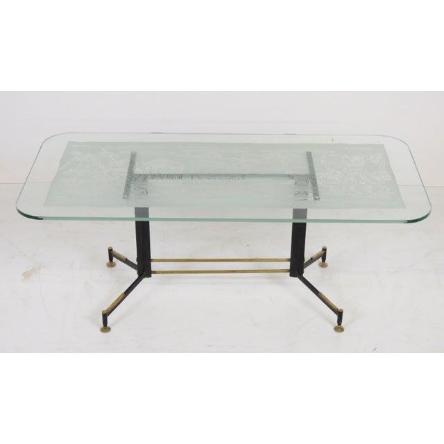 Italian Modern Ireon Glasstop Coffee Table - Image 2 of 7