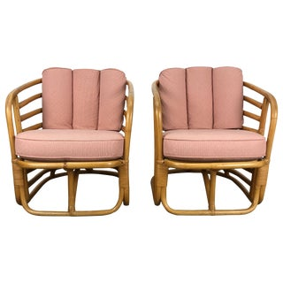Art Deco Bamboo Armchairs by Ritts Tropitan Paul Frankl - a Pair For Sale