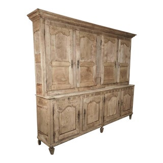 18th Century Louis XV Bleached Buffet Deux Corps For Sale