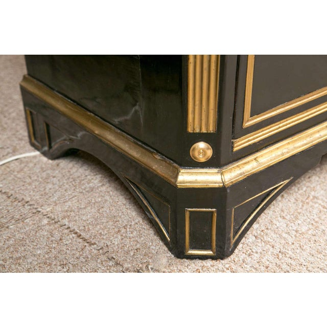 Russian Neoclassical Style Ebonized Commode / Chest of Drawers / Cabinet 19th C. For Sale - Image 5 of 8