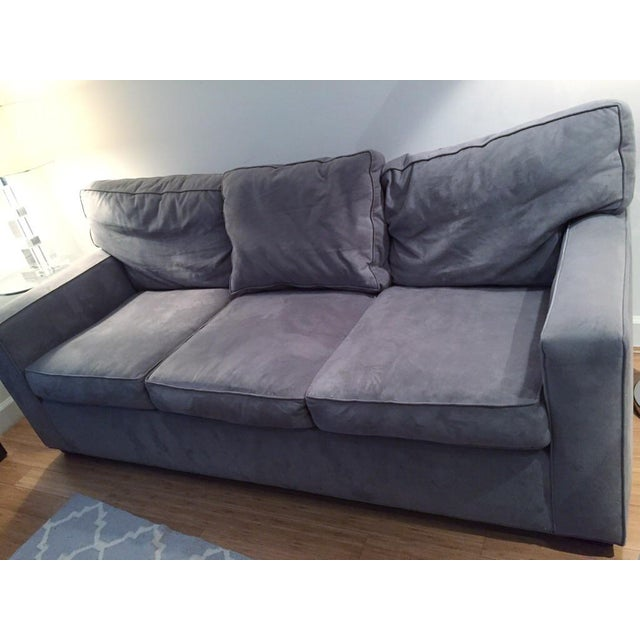 Pottery Barn Grey Sofa: Pottery Barn 3 Seat Metal Gray Everydaysuede Sofa