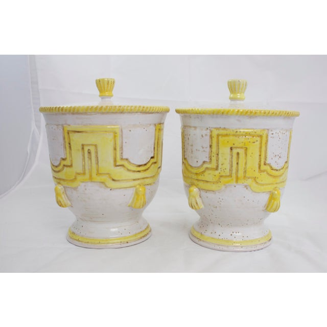 Large 1950s Italian Pottery Jars For Sale - Image 4 of 11