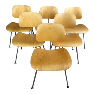 Mid-Century Modern Herman Miller Eames Molded Plywood Dining Chairs - Set of 6 For Sale