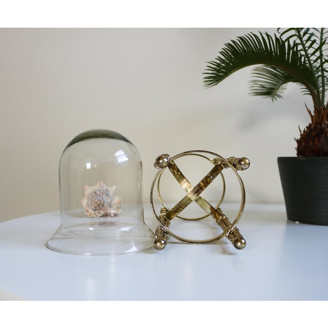 Mid-Century Tall Brass & Glass Candleholder For Sale - Image 10 of 13