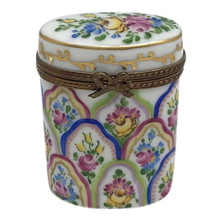 Limited Edition Limoges Hand Painted Box For Sale