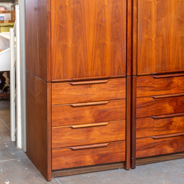 Mid-Century Modern 1960's Barzilay Tall Wardrobe-a Pair For Sale - Image 3 of 6