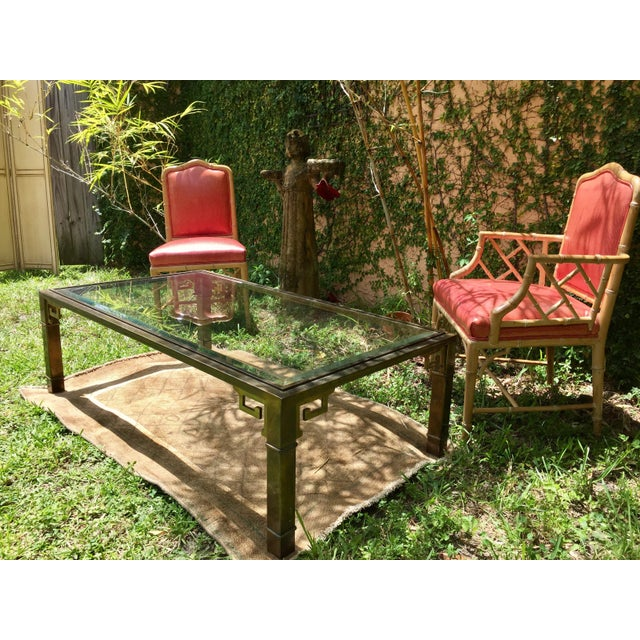 1970s Vintage Mastercraft Regency Style Brass Coffee Table For Sale - Image 10 of 10