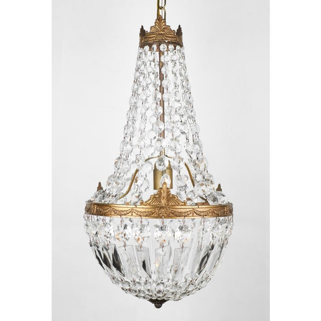 Antique French Empire Style Crystal Chandelier - Image 2 of 7 - Exquisite Antique French Empire Style Crystal Chandelier DECASO