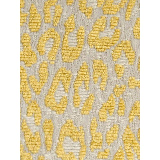 Scalamandre Leopard Misted Yellow Fabric For Sale