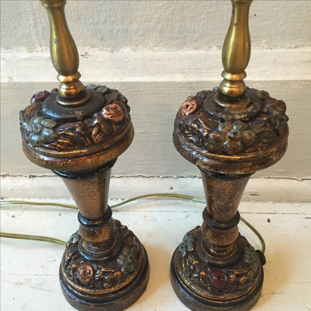 Traditional Little Lady Bedroom Lamps - 2 For Sale - Image 3 of 7