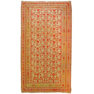Bright Antique Khotan Gallery Rug, 6'1'' X 12'2'' For Sale