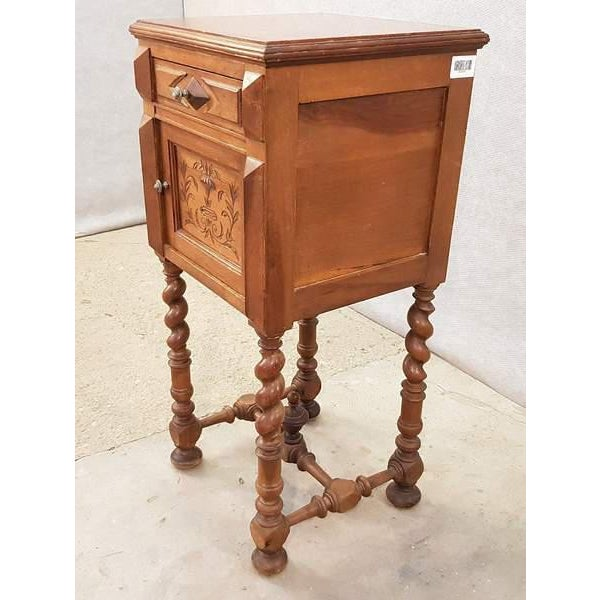 French Antique French Vanity Armoire Barley Twist Stand Desk With Marble Top For Sale - Image 3 of 13