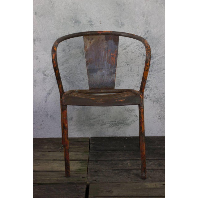 Pair of French Tolix Chairs With Original Paint Finish - Image 4 of 11