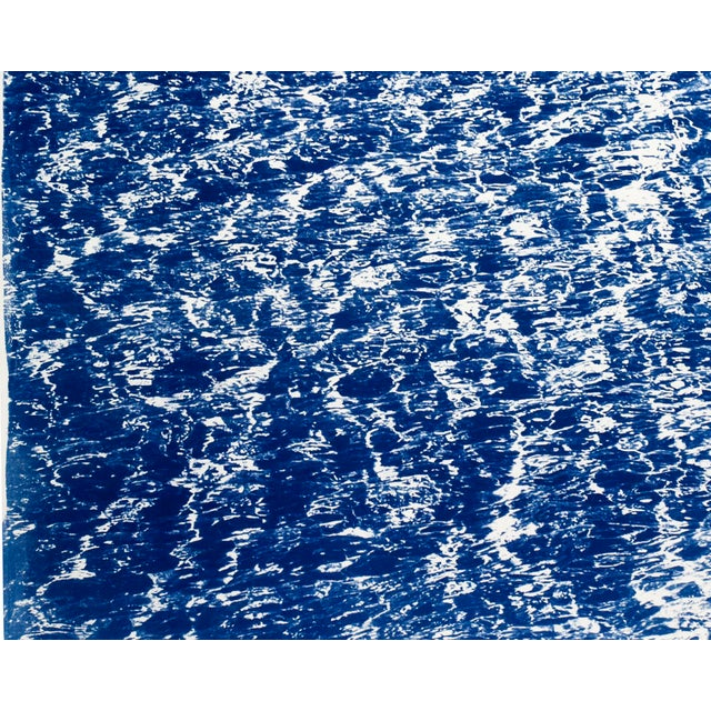"""Triptych """"The Cove"""" / Cyanotype Print on Watercolor Paper / Limited Edition / 100 X 210 CM For Sale - Image 9 of 12"""