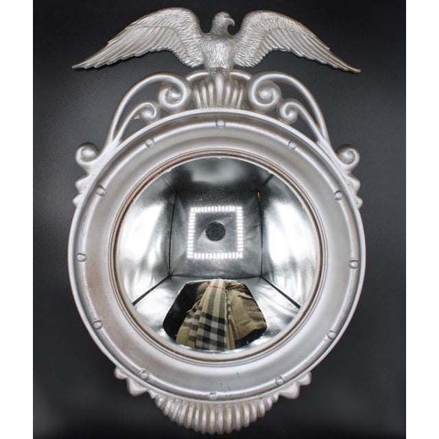 Mid 20th Century Mid-20th Century Vintage Federal Eagle Convex Wall Mirror For Sale - Image 5 of 6